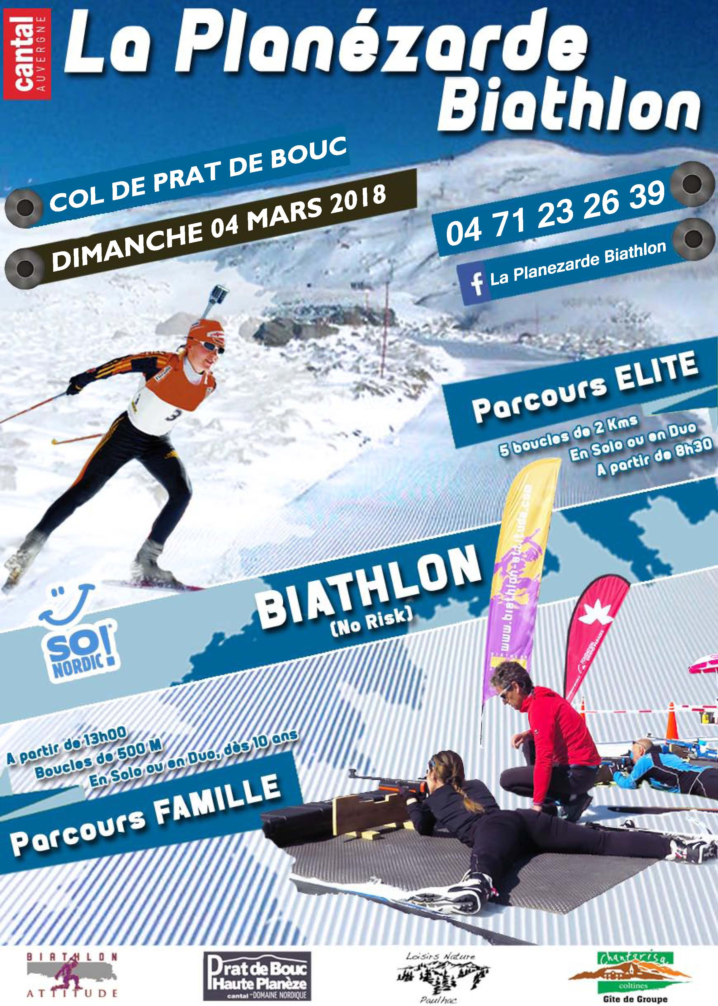 Affiche de la Planezarde Biathlon