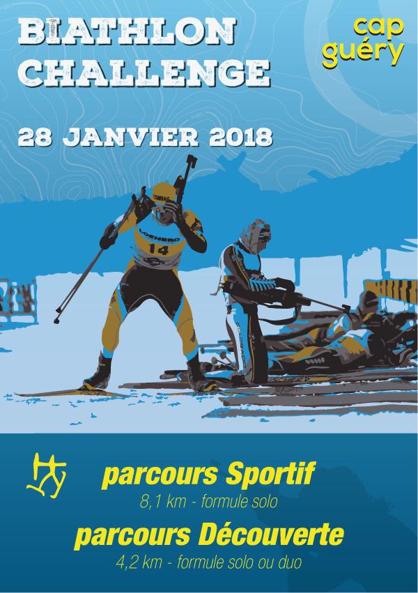 Biathlon Challenge au Cap Guéry le 28 janvier 2018
