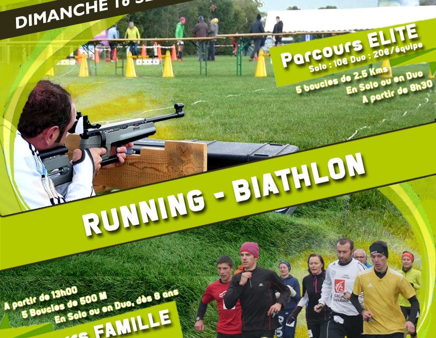 Running Biathlon de Coltines Saint-Flour le 16 septembre 2018