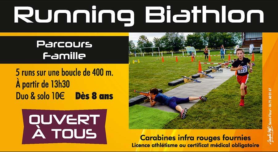 Biathlon Running à La Planézarde de Coltines